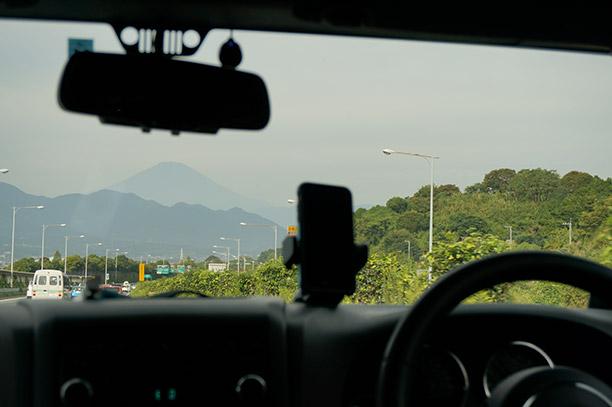 富士山をキャッチ