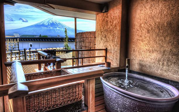 富士山と温泉