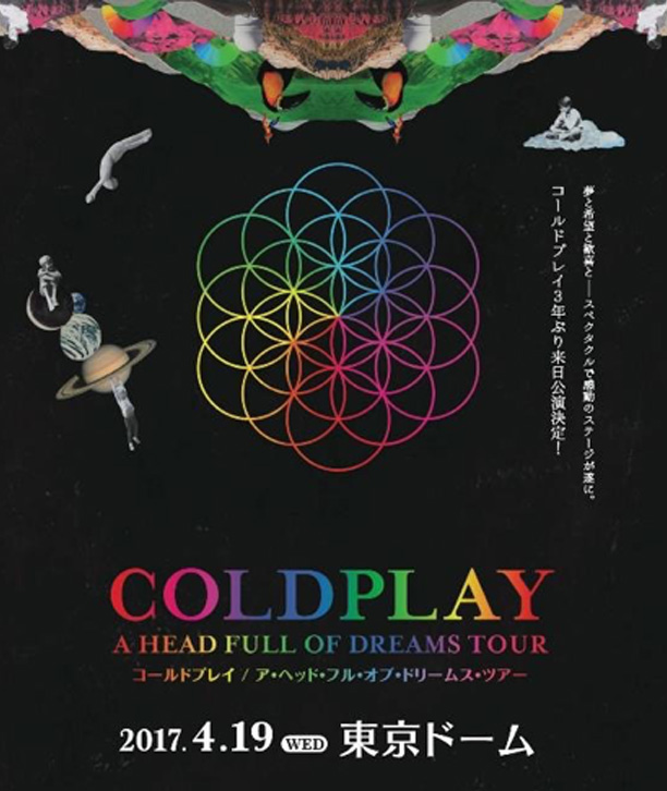 coldplay来日公演