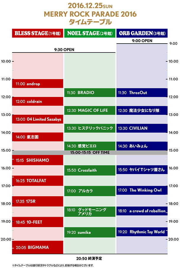 MERRY ROCK PARADE 2016 25日