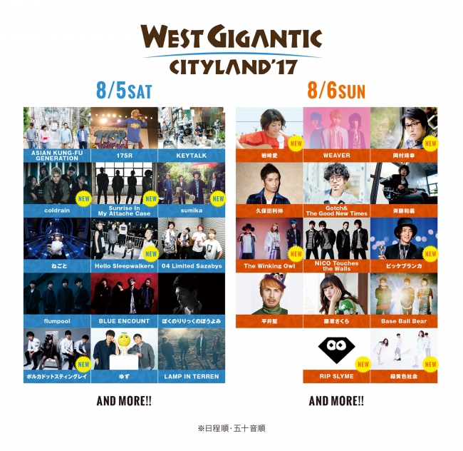 WEST GIGANTIC CITYLAND アーティスト