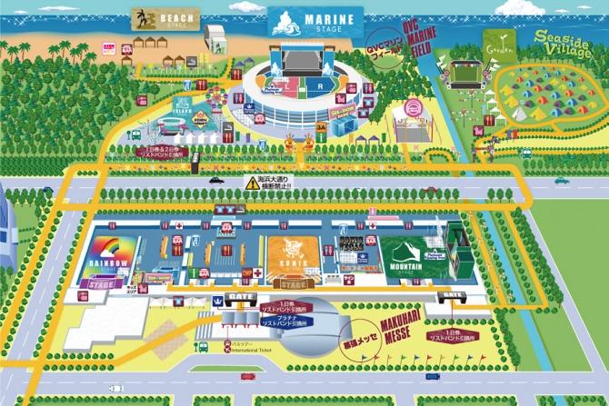 サマソニ2013東京マップ