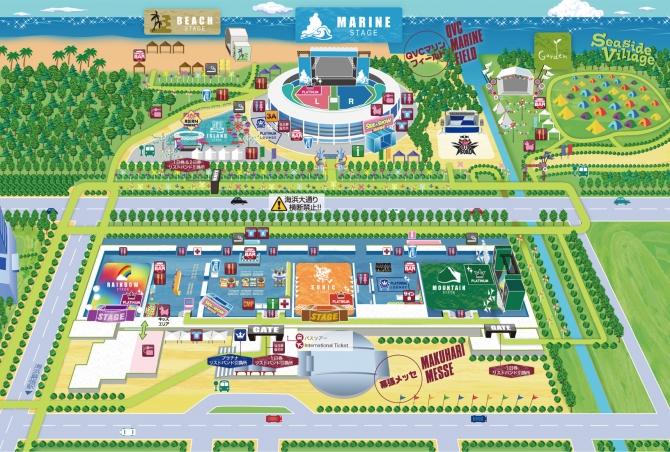 サマソニ2014東京マップ